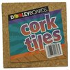 "Dooley Boards Inc Cork Tile 6"" x 6"" Bulletin Board"