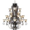 <strong>Wildon Home ®</strong> Chapelle 24 - Light Multi - Tier Chandelier