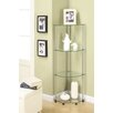 "<strong>13.75"" x 46.5"" Classic Four Tier Corner Shelf</strong> by Convenience Concepts"