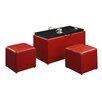 Convenience Concepts Designs 4 Comfort 3 Piece Storage Bench Set