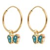 <strong>Sasson Jewelry</strong> Butterfly Hoop Earings