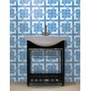"Mosaic Loft Urban Essentials Woven Lattice 3/4"" x 3/4"" Glass Glossy Mosaic in Lakefront Blue"