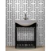 "Mosaic Loft Urban Essentials Bold Chain 3/4"" x 3/4"" Glass Glossy Mosaic in Calm Grey"