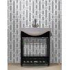 "Mosaic Loft Urban Essentials Modern Bamboo 3/4"" x 3/4"" Glass Glossy Mosaic in Calm Grey"