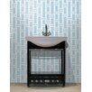 "Mosaic Loft Urban Essentials Modern Bamboo 3/4"" x 3/4"" Glass Glossy Mosaic in Breeze Blue"