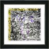 "Studio Works Modern ""Dance Moves - Yellow"" by Zhee Singer Framed Fine Art Giclee Painting Print"