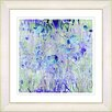 "Studio Works Modern ""Outside My Window - Sky Blue"" by Zhee Singer Framed Fine Art Giclee Painting Print"