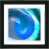 "Studio Works Modern ""Aqua Blue Crush"" by Zhee Singer Framed Fine Art Giclee Painting Print"
