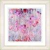 """Studio Works Modern """"Outside My Window Flame"""" by Zhee Singer Framed Giclee Print Fine Art in Red"""