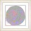 """Studio Works Modern """"Full Moon"""" by Zhee Singer Framed Giclee Print Fine Art in White"""