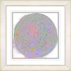 "Studio Works Modern ""White Full Moon"" by Zhee Singer Framed Fine Art Giclee Painting Print"