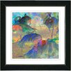 "Studio Works Modern ""Abstract Flamingos"" by Zhee Singer Framed Fine Art Giclee Painting Print"