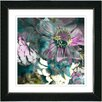 """Studio Works Modern """"Annapolis Floral  - Aqua Pink"""" by Zhee Singer Framed Fine Art Giclee Painting Print"""