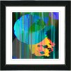 "Studio Works Modern ""Green Earth Flare"" by Zhee Singer Framed Fine Art Giclee Painting Print"