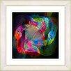 "Studio Works Modern ""Voice of Odin"" by Zhee Singer Framed Giclee Print Fine Art in Red Green"