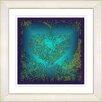 "Studio Works Modern ""Filigree Heart"" by Zhee Singer Framed Giclee Print Fine Art in Turquoise"