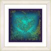 "Studio Works Modern ""Filigree Heart - Turquoise"" by Zhee Singer Framed Fine Art Giclee Painting Print"