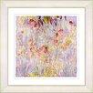 """Studio Works Modern """"Outside My Window - Orange Glow"""" by Zhee Singer Framed Fine Art Giclee Painting Print"""