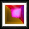 "Studio Works Modern ""Mind Box - Pink Brown"" by Zhee Singer Framed Fine Art Giclee Painting Print"