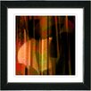 "Studio Works Modern ""Orange Windfall"" by Zhee Singer Framed Fine Art Giclee Painting Print"