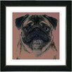 "Studio Works Modern ""Pug Dog"" by Zhee Singer Framed Giclee Print Fine Art"