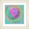 "Studio Works Modern ""Neo Geo - Pink"" by Zhee Singer Framed Fine Art Giclee Painting Print"