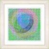 "Studio Works Modern ""Neo Geo - Blue"" by Zhee Singer Framed Fine Art Giclee Painting Print"