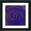 "Studio Works Modern ""Hybrid Histor""y by Zhee Singer Framed Giclee Print Fine Art in Blue and Purple"