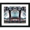 "Studio Works Modern ""Homestead - Turquoise"" by Mia Singer Framed Fine Art Giclee Painting Print"