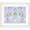 "Studio Works Modern ""Abstract Spring Floral - Sky Blue"" by Zhee Singer Framed Fine Art Giclee Print"