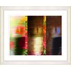 """Studio Works Modern """"Poppies and Carrots - Red"""" by Zhee Singer Framed Fine Art Giclee Print"""