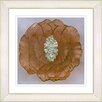 "Studio Works Modern ""Crystal Flower - Gold"" by Zhee Singer Framed Fine Art Giclee Painting Print"