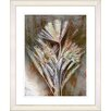 "Studio Works Modern ""Harvest Floral - Amber"" by Zhee Singer Framed Fine Art Giclee Print"