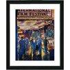 """Studio Works Modern """"Film Festival"""" by Zhee Singer Framed Fine Art Giclee Painting Print"""