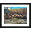 "Studio Works Modern ""Bumper Cars"" by Zhee Singer Framed Fine Art Giclee Painting Print"