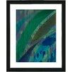 "<strong>""Cinnabar - Aqua"" by Zhee Singer Framed Fine Art Giclee Print</strong> by Studio Works Modern"