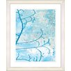 "<strong>Studio Works Modern</strong> ""Filigree Flower Branches - Turquoise"" by Zhee Singer Framed Fine Art Giclee Print"