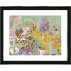 "Studio Works Modern ""Rococo Peacock - Violet"" by Zhee Singer Framed Fine Art Giclee Painting Print"