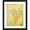 "Studio Works Modern ""Yellow Dansing Bud - Spring"" by Zhee Singer Framed Fine Art Giclee Painting Print"