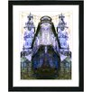 "Studio Works Modern ""Flatiron Building - Blue"" by Mia Singer Framed Fine Art Giclee Painting Print"