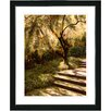 "Studio Works Modern ""Tree with Steps"" by Mia Singer Framed Fine Art Giclee Photographic Painting Print"