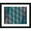 "Studio Works Modern ""Placidus - Teal"" by Zhee Singer Framed Fine Art Giclee Painting Print"
