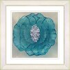 "Studio Works Modern ""Crystal Flower - Turquoise"" by Zhee Singer Framed Fine Art Giclee Painting Print"