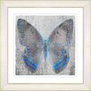 "Studio Works Modern ""Dusk Butterfly - Blue"" by Zhee Singer Framed Fine Art Giclee Painting Print"