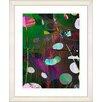 "Studio Works Modern ""Dark Plyos - Green"" by Zhee Singer Framed Fine Art Giclee Painting Print"