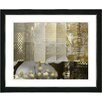 "Studio Works Modern ""Urban Puzzle - Sepia"" by Zhee Singer Framed Fine Art Giclee Painting Print"