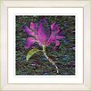 "Studio Works Modern ""Bliss Floral - Purple"" by Zhee Singer Framed Fine Art Giclee Painting Print"