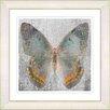 """Studio Works Modern """"Dusk Butterfly - Orange"""" by Zhee Singer Framed Fine Art Giclee Print"""
