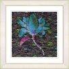 "Studio Works Modern ""Bliss Floral - Blue"" by Zhee Singer Framed Fine Art Giclee Painting Print"