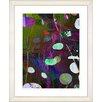 "Studio Works Modern ""Dark Plyos - Pink"" by Zhee Singer Framed Fine Art Giclee Print"